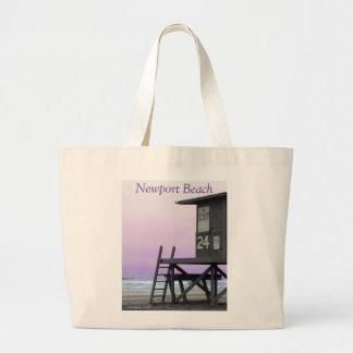 ライフガードタワーのニューポートビーチのバッグ ラージトートバッグ