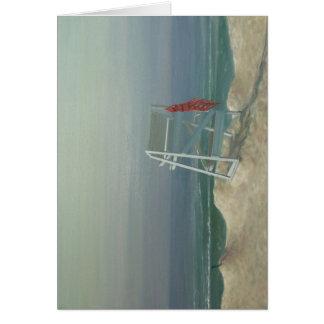ライフガード椅子、-朝 カード