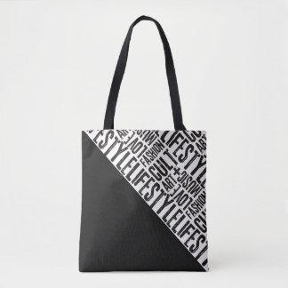 ライフスタイルのファッションの嵩拝-黒 トートバッグ