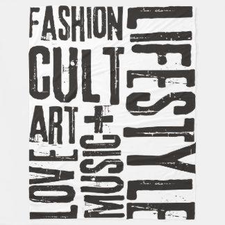 ライフスタイルのファッションの嵩拝-黒 フリースブランケット
