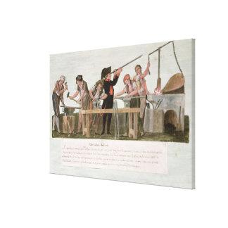 ライフルメーカーの研修会1793年 キャンバスプリント