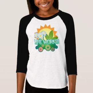 ライフ・ワーク! 女の子のraglanのTシャツ Tシャツ