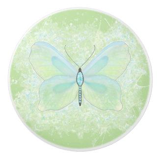 ライムおよび水によって宝石で飾られる蝶ノブ セラミックノブ