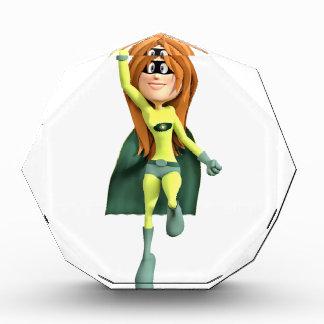 ライムおよび緑の極度の漫画の女の子 表彰盾