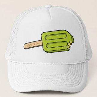 ライムのアイスキャンデーは私を帽子はかみます(白い) キャップ