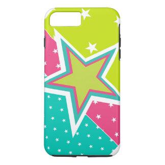 ライムのターコイズおよびピンクの星 iPhone 8 PLUS/7 PLUSケース