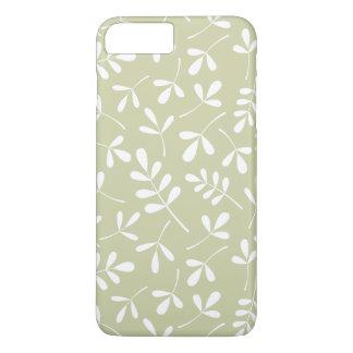 ライムの分類された葉パターン白 iPhone 8 PLUS/7 PLUSケース