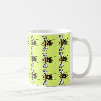 ライムの控え目な《昆虫》マルハナバチのマグ コーヒーマグカップ