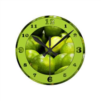 ライムの時間 ラウンド壁時計