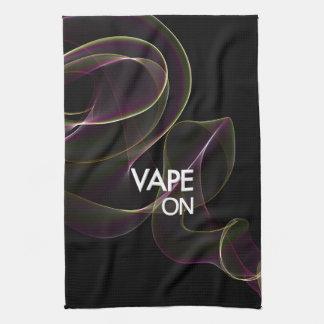 ライムの煙のVape キッチンタオル