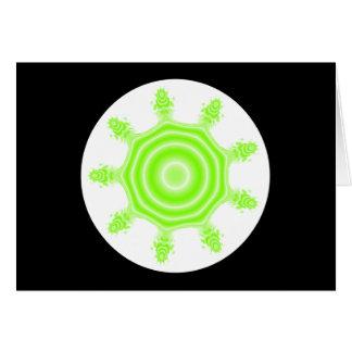 ライムの破烈のフラクタル。 白黒緑。 カード