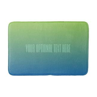 ライムの青い勾配のカスタムな文字のバス・マット バスマット