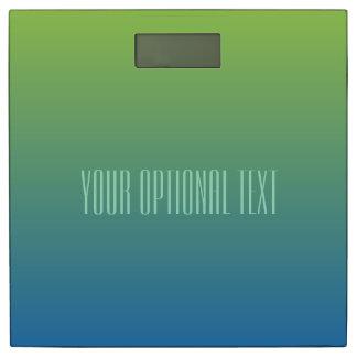 ライムの青い勾配のカスタムな文字の体重計 体重計