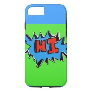 ライムの青緑のこんにちはiPhone 7の場合 iPhone 8/7ケース