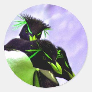 ライムのRockhopperのペンギン ラウンドシール