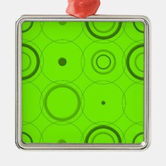 ライムは、緑のレトロの破裂音抽象美術を平方します メタルオーナメント