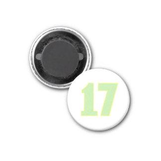 ライムグリーンおよび黄色の第17磁石 マグネット