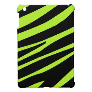 ライムグリーンおよび黒のシマウマのプリントのiPad Miniケース iPad Mini Case