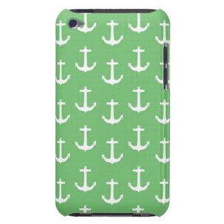 ライムグリーンに対する航海ので白いいかり Case-Mate iPod TOUCH ケース
