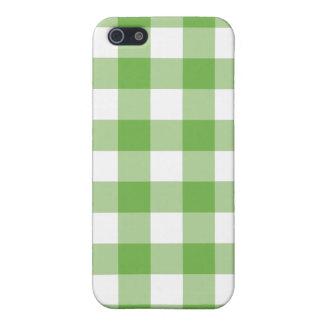 ライムグリーンのギンガムのiphone 4ケース iPhone 5 case