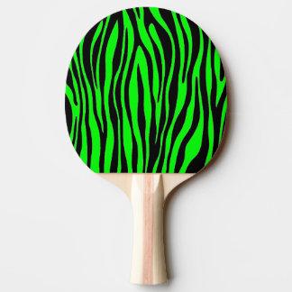 ライムグリーンのシマウマ 卓球ラケット