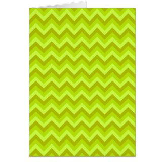 ライムグリーンのジグザグパターン カード