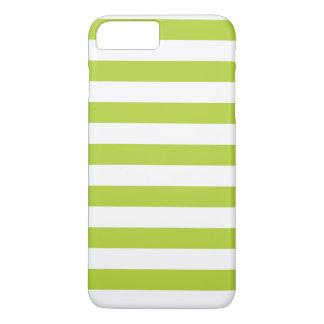 ライムグリーンのストライプ iPhone 8 PLUS/7 PLUSケース