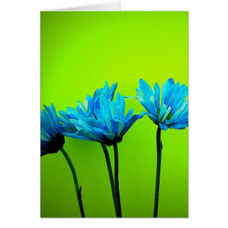 ライムグリーンのティール(緑がかった色)のターコイズのデイジーによってはギフトが開花します カード