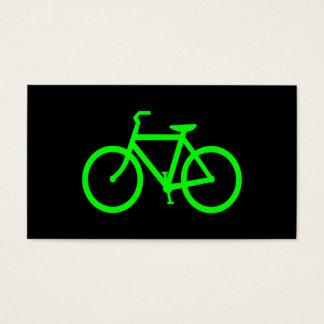ライムグリーンのバイク 名刺