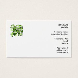 ライムグリーンのヘビ 名刺