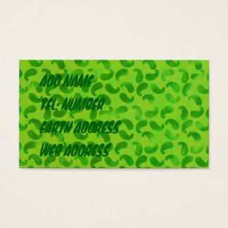 ライムグリーンの名刺の緑の塊 名刺