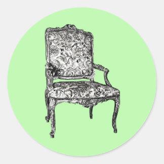 ライムグリーンの執権期間の椅子 ラウンドシール