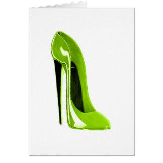 ライムグリーンの小剣の靴 カード