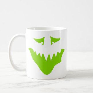 ライムグリーンの恐い顔。 モンスター コーヒーマグカップ