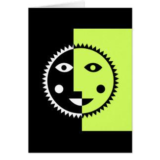 ライムグリーンの抽象芸術日曜日 カード