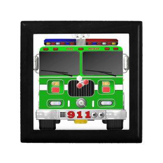 ライムグリーンの普通消防車 ギフトボックス