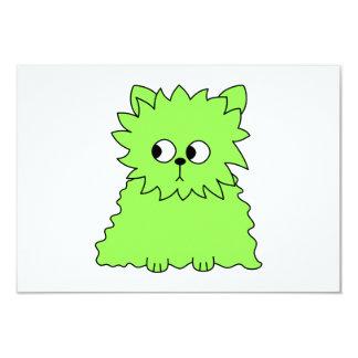 ライムグリーンの柔らかい猫 カード