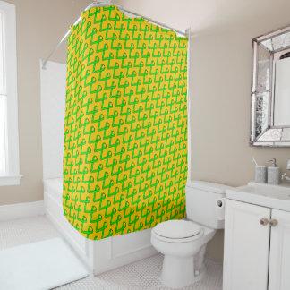 ライムグリーンの標準のリボン シャワーカーテン