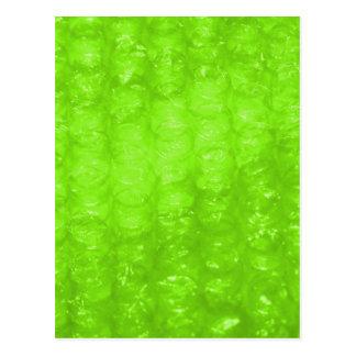 ライムグリーンの気泡緩衝材の効果 ポストカード
