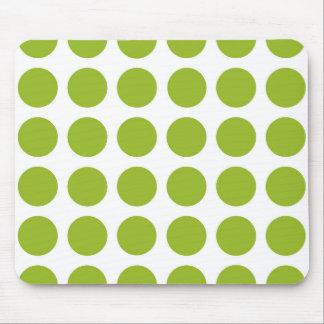 ライムグリーンの水玉模様のマウスパッド マウスパッド