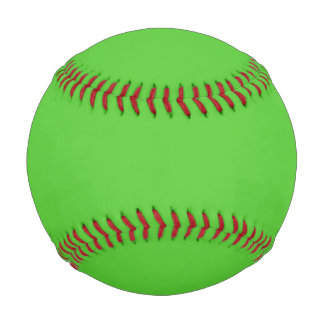 ライムグリーンの無地 野球ボール
