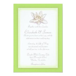 ライムグリーンの結婚式招待状 カード