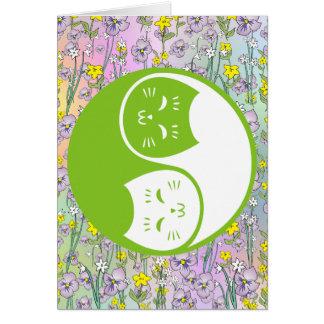 ライムグリーンの陰陽猫 カード