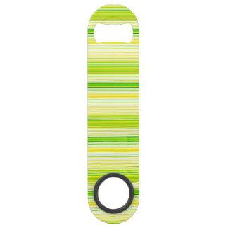 ライムグリーンの黄色の縞模様 スピードボトルオープナー