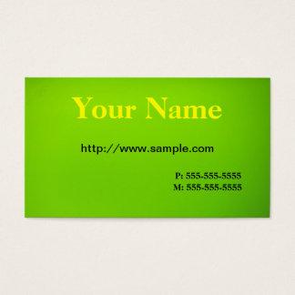 ライムグリーンの黄色 名刺