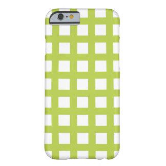 ライムグリーンのiPhone 6つのケース-格子点検 Barely There iPhone 6 ケース
