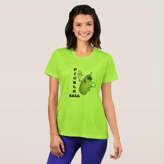 ライムグリーンのPickleballのクールなTシャツ Tシャツ