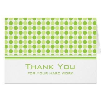 ライムグリーンは従業員記念日カードに点を打ちます カード