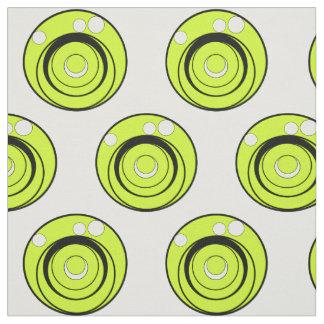 ライムグリーンは、白黒円生地を設計しました ファブリック