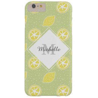 ライムグリーンレモンパターン BARELY THERE iPhone 6 PLUS ケース